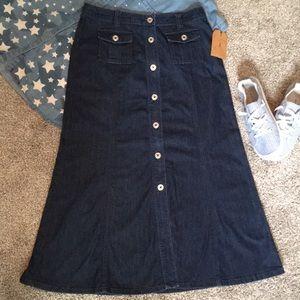 Talbots Long Denim Skirt